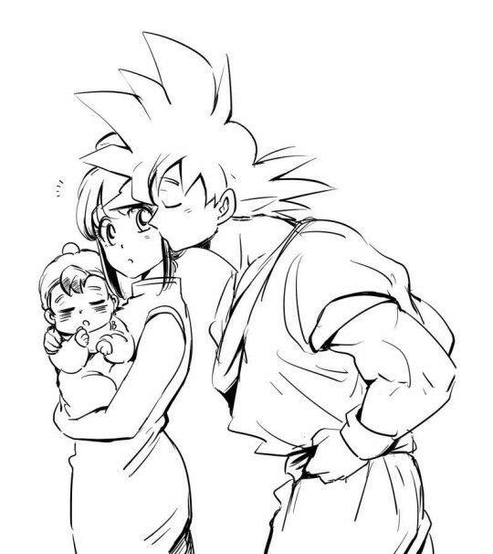 Goku, chichi and baby Gohan | db family | Pinterest | Goku, Dragon ...