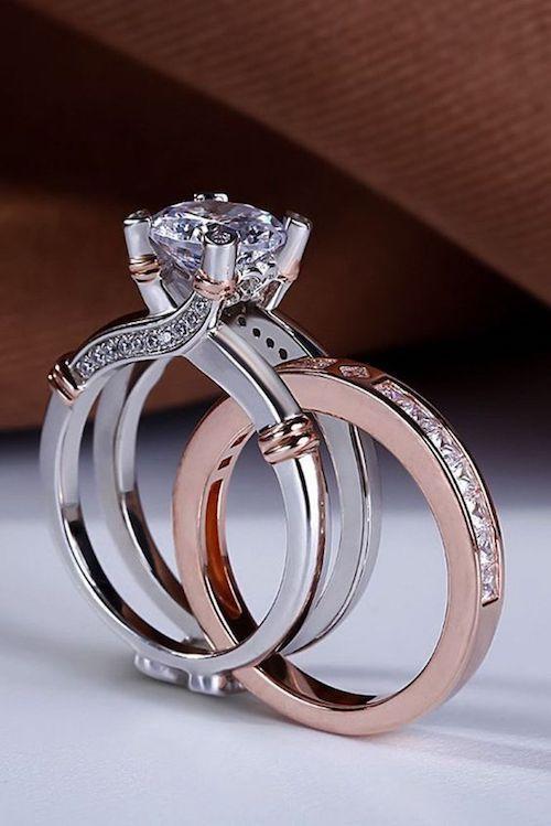 4f9a78d44eb1 Los bridal sets son la manera de combinar el anillo de compromiso de tu  sueños con una alianza de boda igualmente perfecta.  anillos  boda   bridalsets