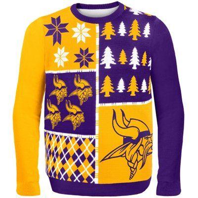 the latest 5bc1b c1624 Minnesota Vikings Purple Busy Block Ugly Sweater   Cool ...