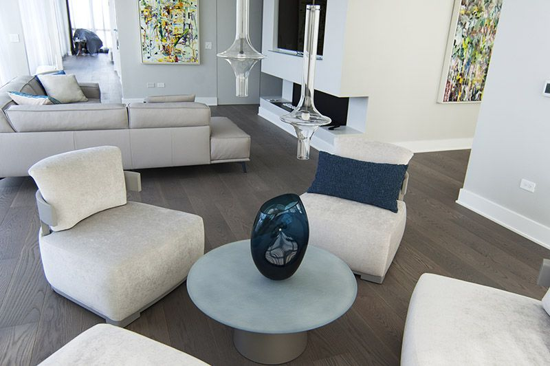 New Design Project Chicago Penthouse Living Room Design Modern Luxury Italian Furniture Modern Furniture Living Room