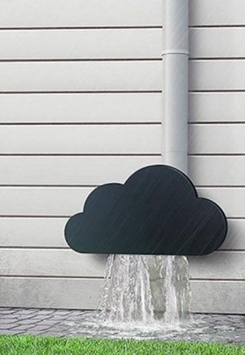 For The Bottom Of Your Gutters Cute Clouds Downspout Rain Gutters