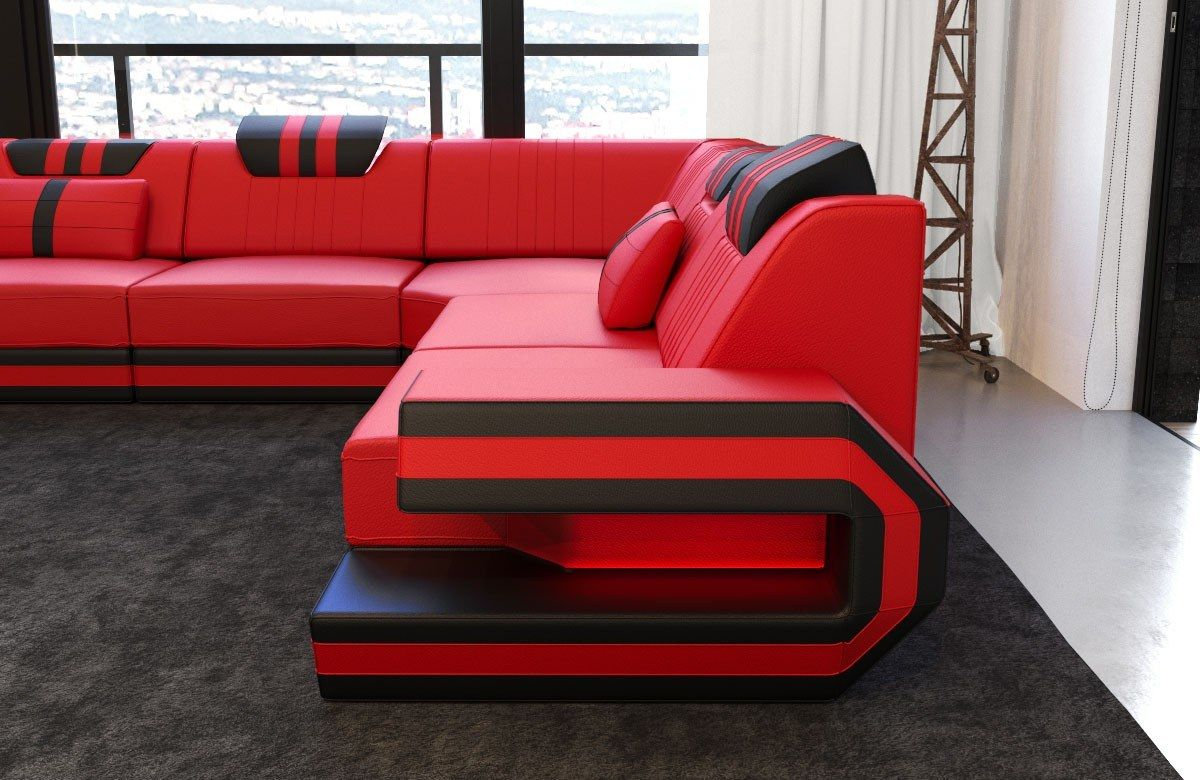 Design Sectional Sofa San Antonio L Shape With Led Lights Sectional Sofa Sofa L Shaped Sofa