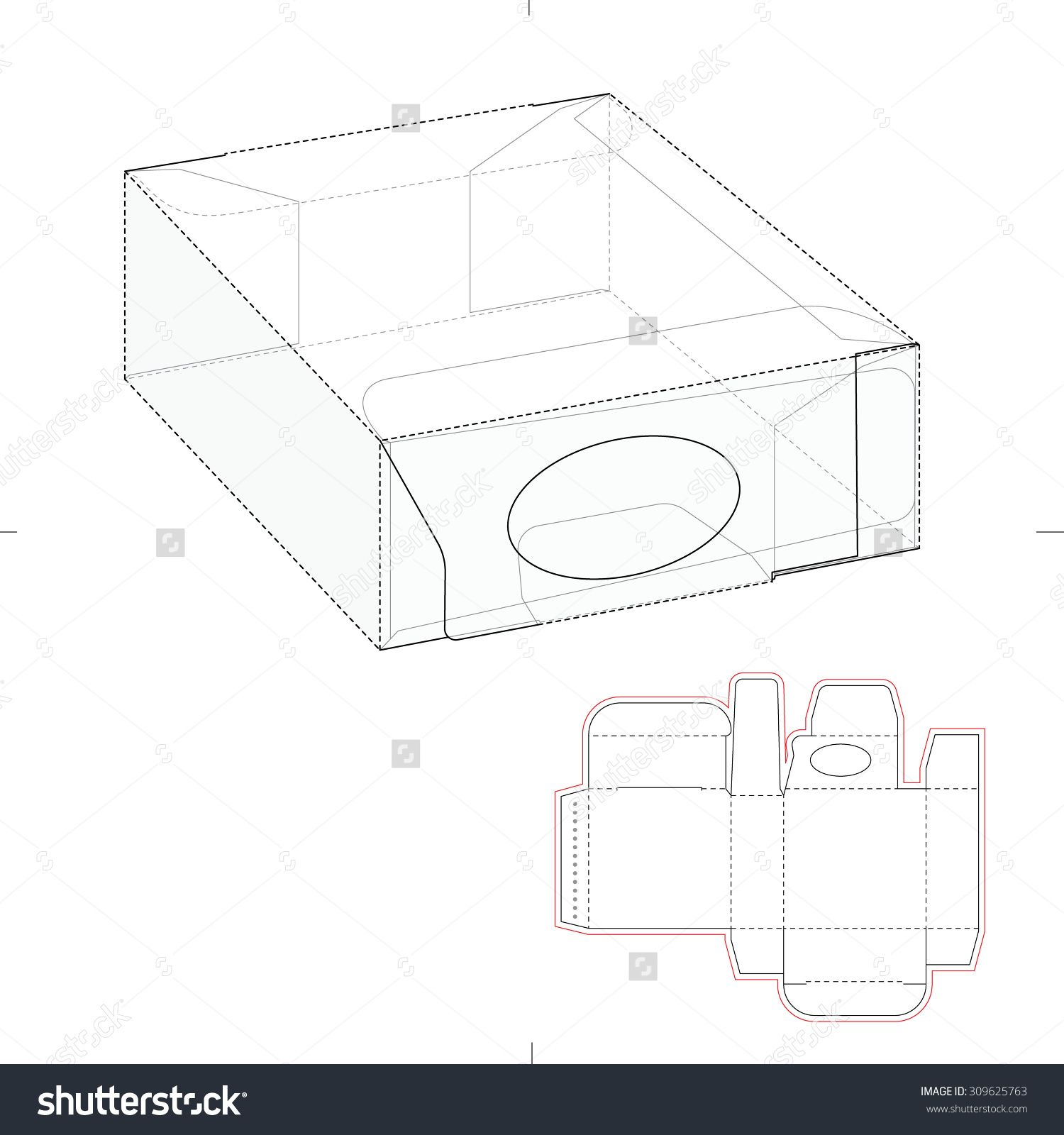 Dispenser Box With Die Line Template Templates Packaging Template Diy Box