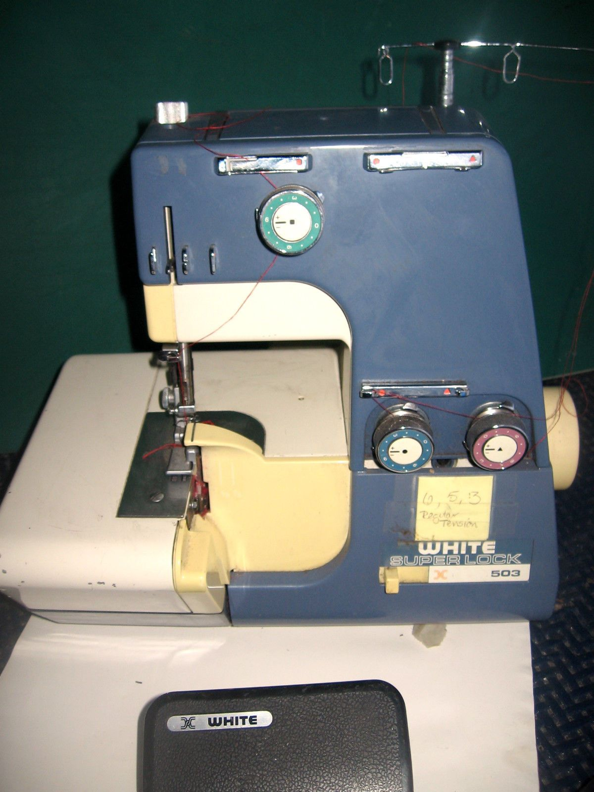 White Superlock Overlock Machine Model 503W 3 Tested and Works Very Well    eBay