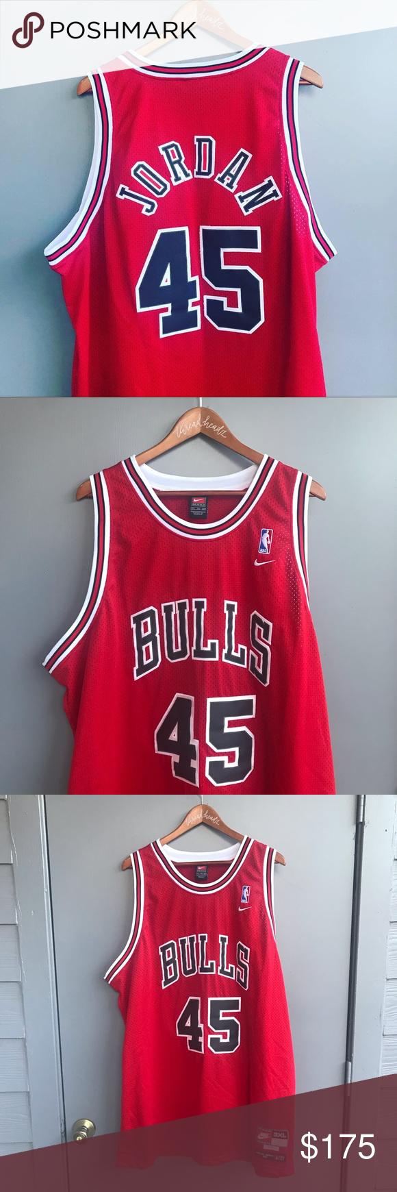 Michael Jordan 45 NBA Chicago Bulls Nike Jersey Michael