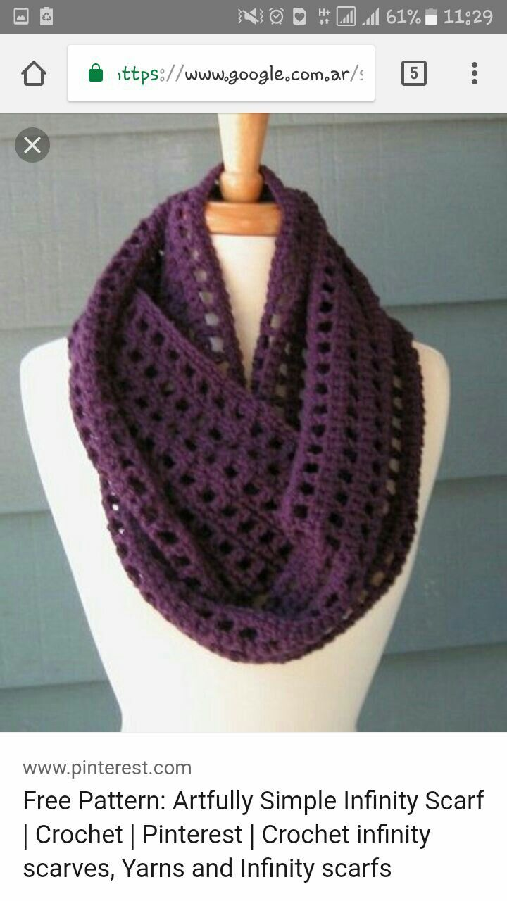 bufanda infinita | crochet | Pinterest | Bufandas infinito y Infinito