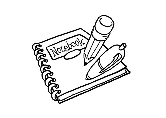 School Notebook Coloring Pages