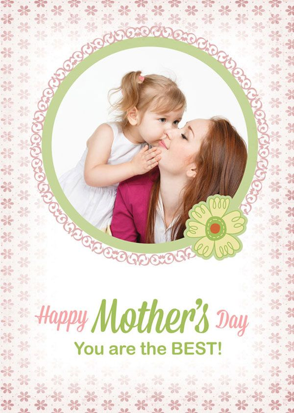 Free Custom Photo Mother S Day Cards Psd Templates Mothers Day Card Template Card Templates Free Free Business Card Templates