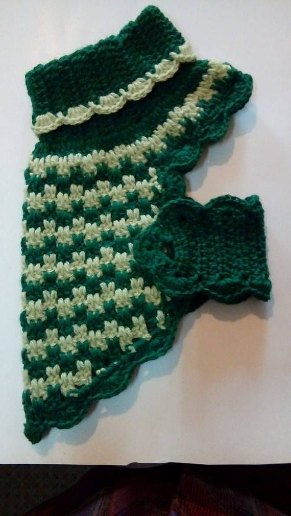 Dog jumper small crocheted cotton | Puentes, Consentir y Tejido