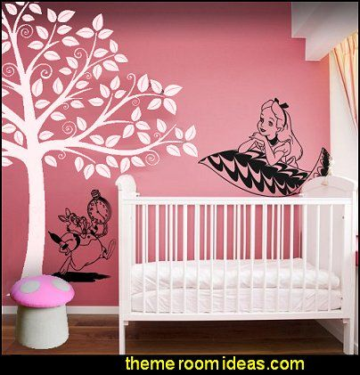 Alice In Wonderland Wall Decal Stickers Forest Furniture Tree Wall Murals