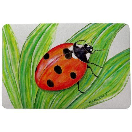 Awesome Betsy Drake Interiors Garden Lady Bug Doormat #interiorgarden Home Design Ideas