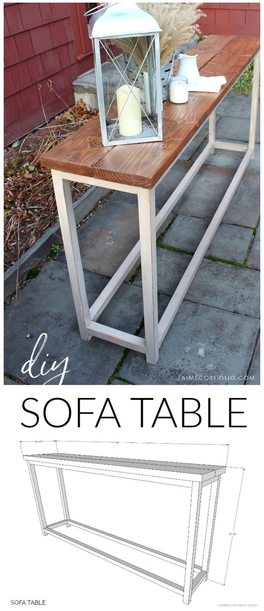 Simple Sofa Table Free Plans Jaime Costiglio In 2020 Simple
