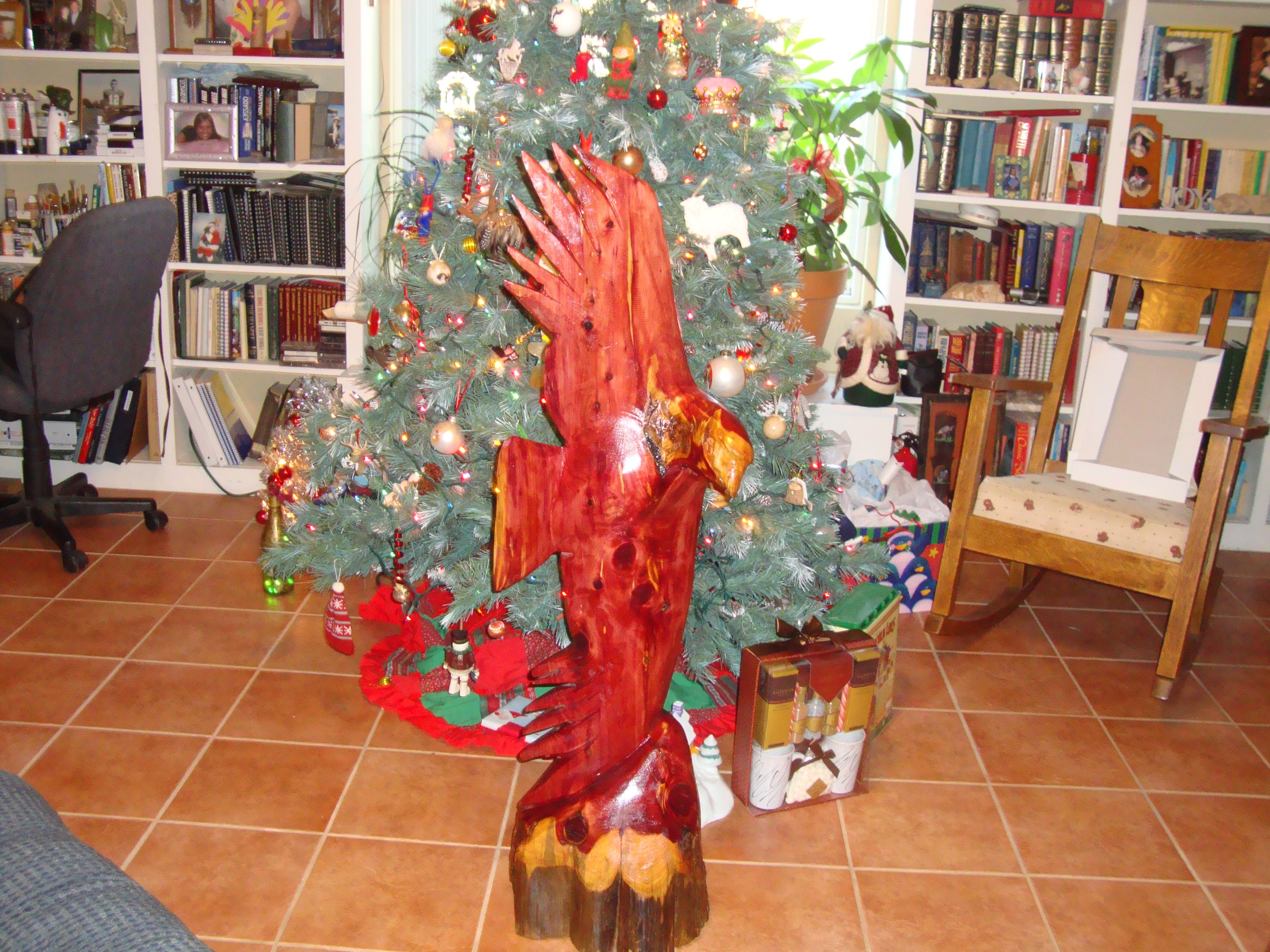 Bird of Prey out of red cedar  For sale