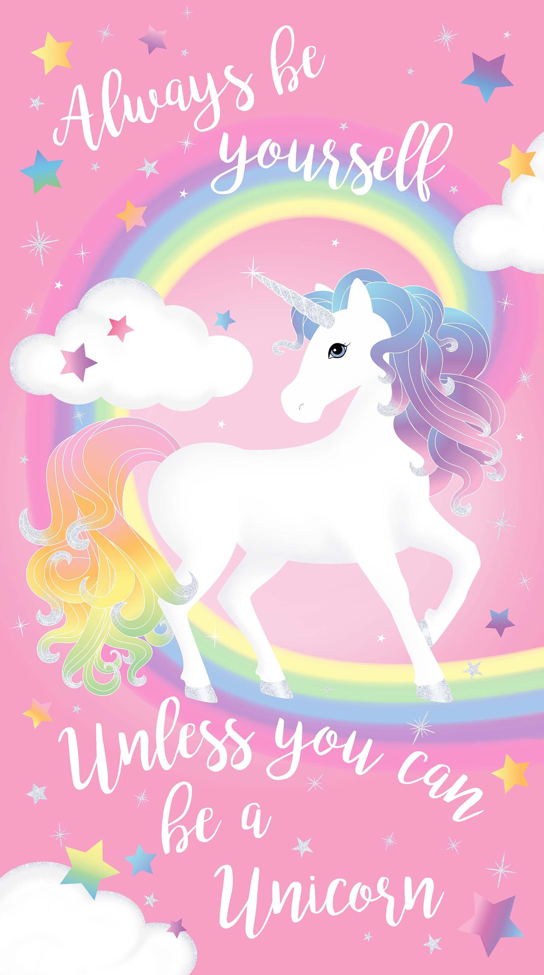 Northcott Fabrics Unicorn Magic Unicorn Wallpaper Cute
