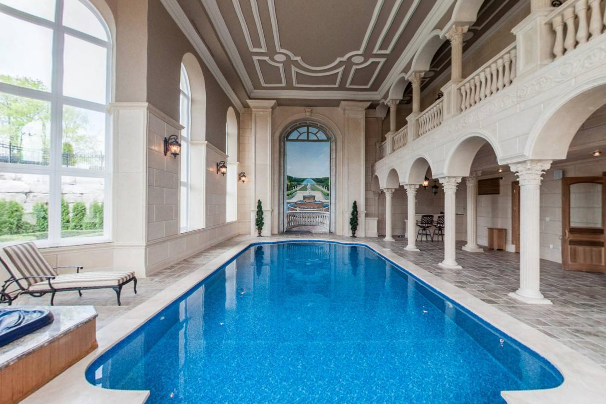 Stately Ornate 24 000 Square Foot Mega Mansion In Canada Mansions Mega Mansions Pool Houses