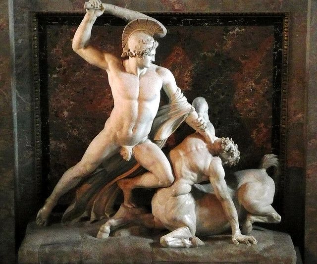 Antonio Canova,  Theseus im Kampf gegen den Minotauros, Kunsthistorischen Museum, Wien