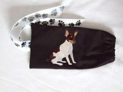 Toy Fox Terrier Leash Bag by mischyfpaws on Etsy.etsy.com