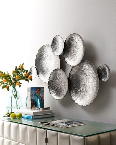 Ares Silver-Tone Wall Decor | Metal bowl, Wall décor and Walls