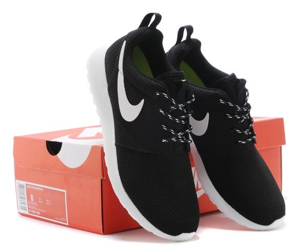 Womens Nike Roshe Run Black White Shoes