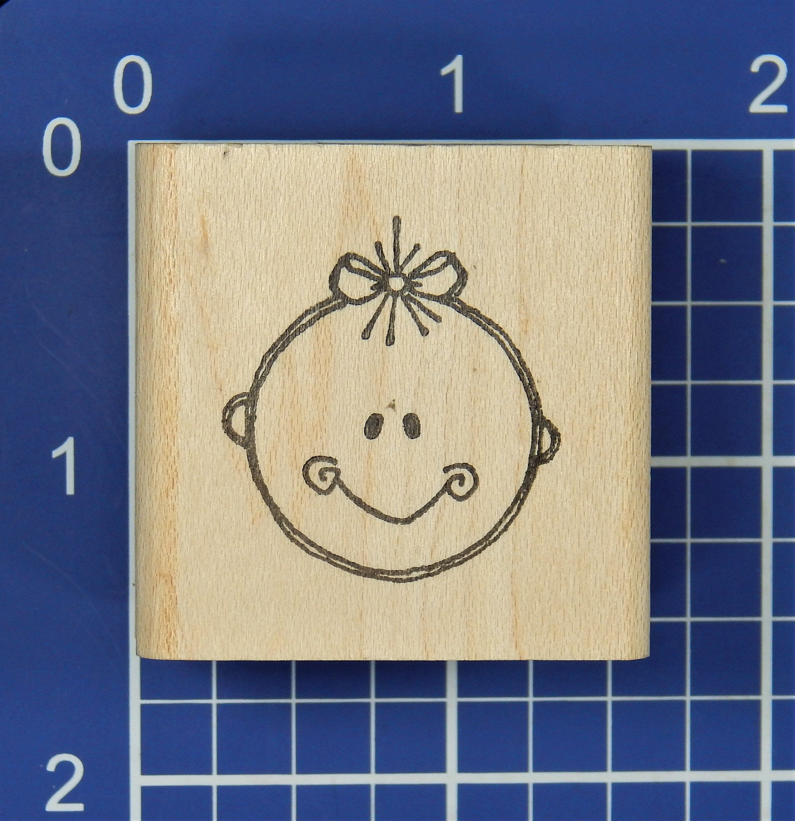 468bb7687c099 BABY FACE, Rubber Stamp by Imaginations | Rubber and Clear Stamps to ...