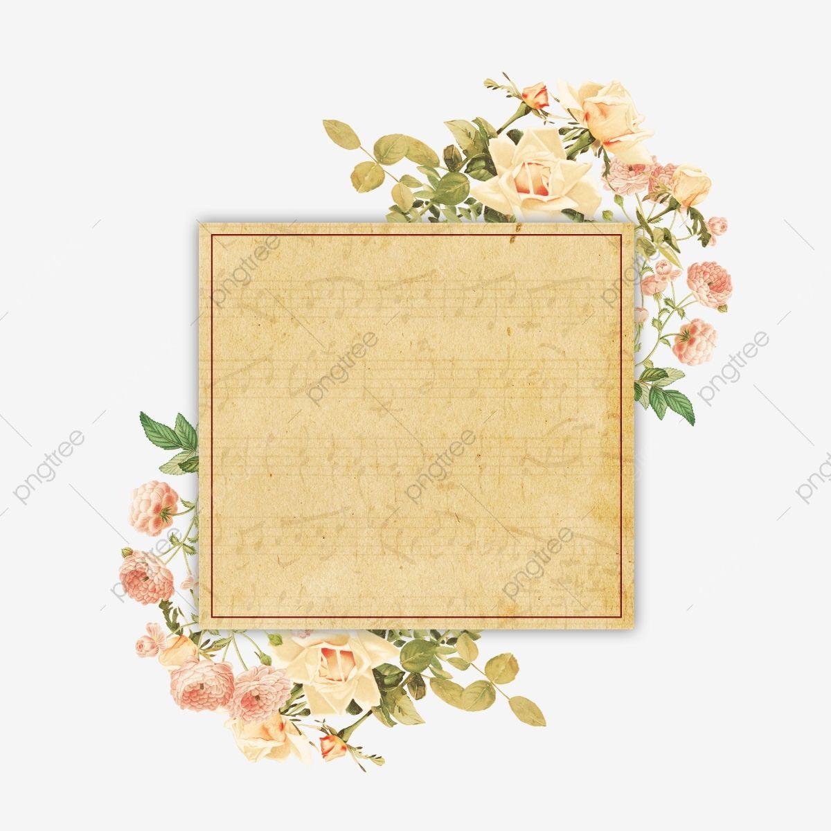 Elegant Vintage Floral Frame Floral Frame Vintage Floral Png Transparent Clipart Image And Psd File For Free Download Vintage Floral Clip Art Graphic Design Background Templates