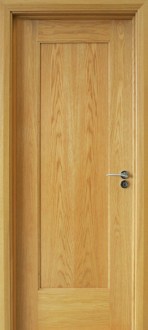 Shaker 1 Panel White Oak Door 40mm Internal Doors Contemporary Doors Wood Doors Interior Wood Doors Oak Doors