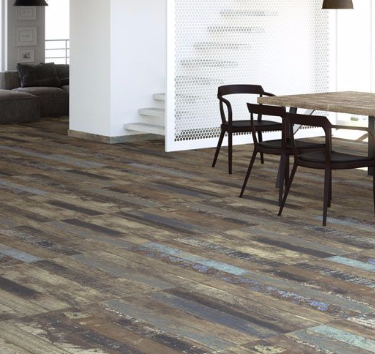 Love this tile wood flooring for the store's floor.