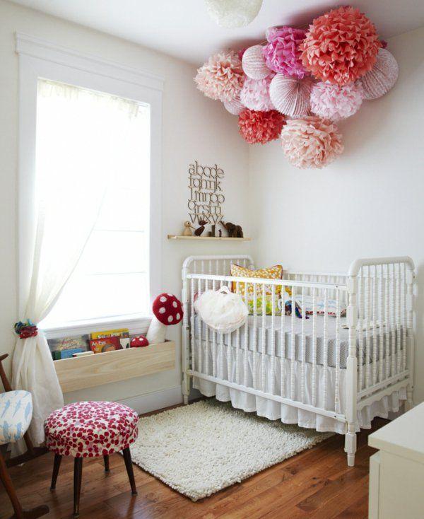 Vintage Deko Kinderzimmer Deko Ideen papier gardinen fenster