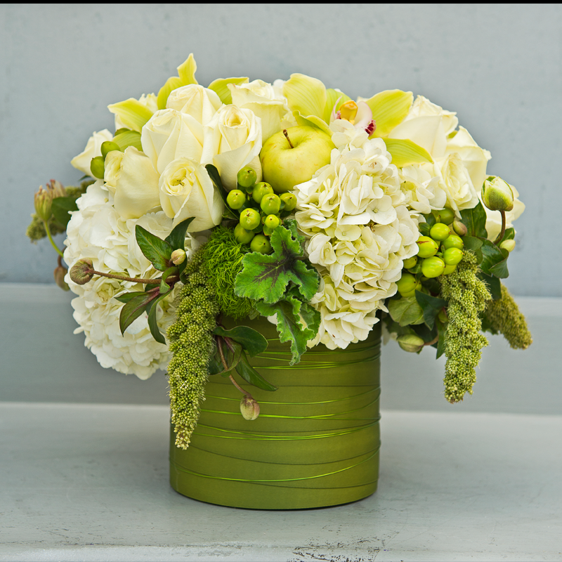 lime & white by La Fleur by Tracy Orchid flower