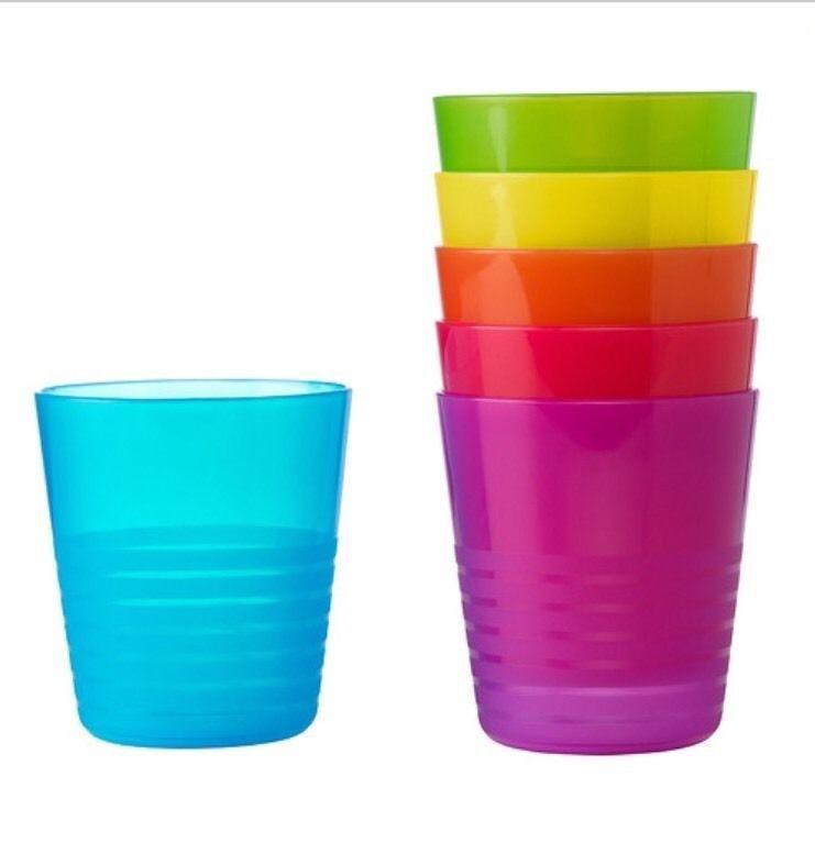 NEW IKEA KALAS TUMBLER 6-PACK CHILDREN CUP SET ASSORTED COLORS BPA FREE NEW #IKEA