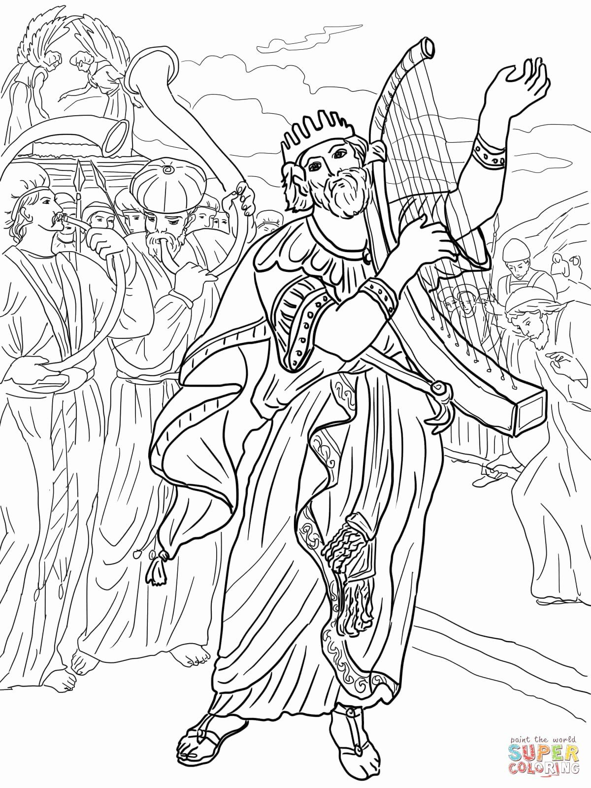 David And Mephibosheth Coloring Page Elegant David And Jonathan