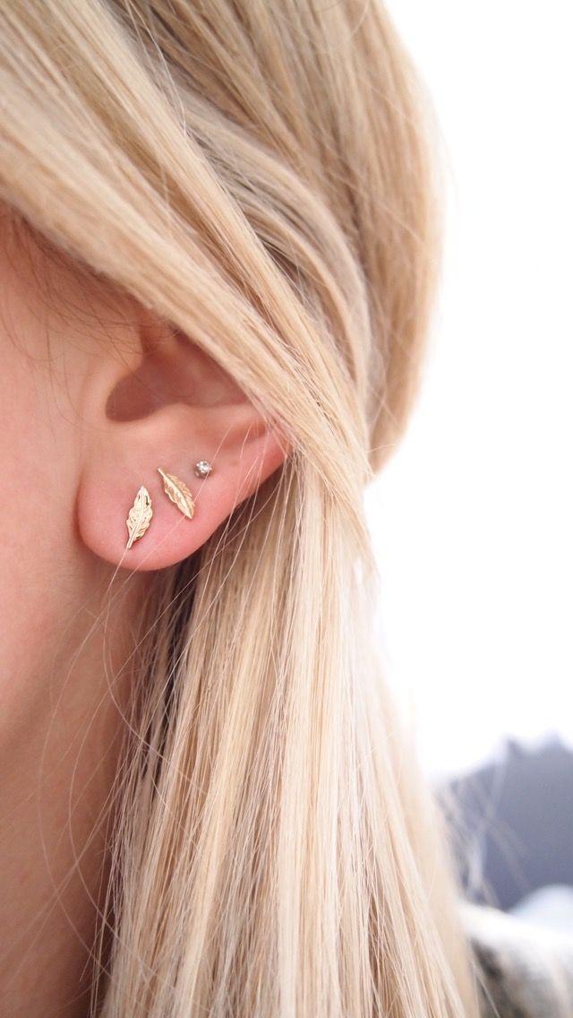 Fashion femmes 925 Sterling Argent Plaqué Papillon Oreille Clous D/'oreilles Bijoux