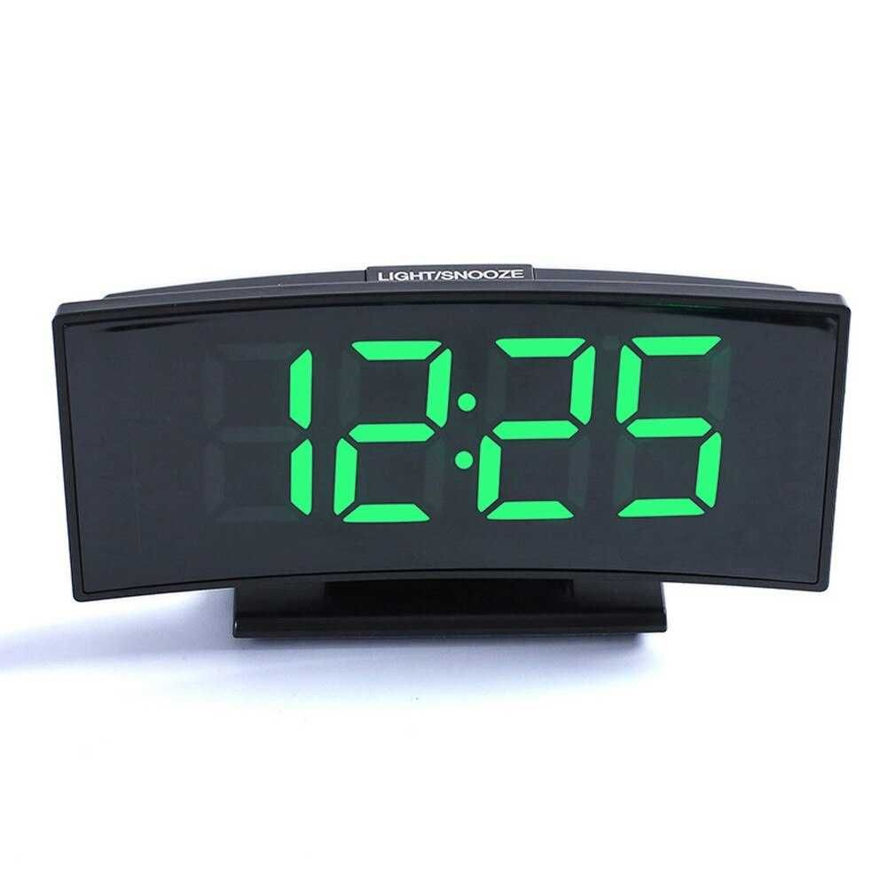 Clock With Date And Temperature Multifunctional Large Screen Digital Display Electronic Table Clock Mute Led Mirror Love The Shop In 2020 Led Alarm Clock Alarm Clock Clock