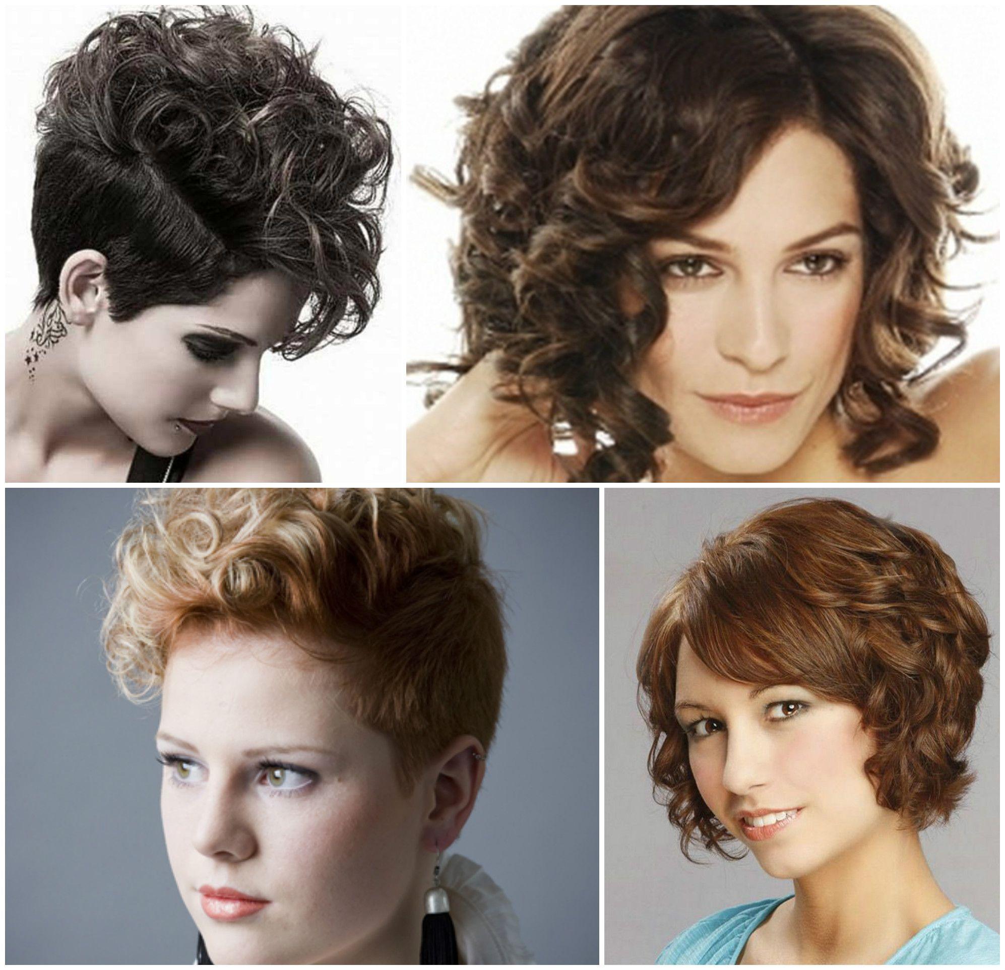 Short Curly Hairstyles 2017 My Style Pinterest Short Wavy