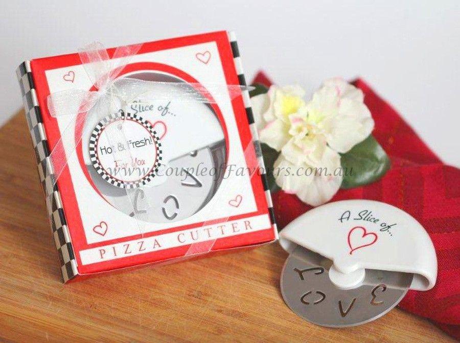 Unique Bridal Shower Favors A Slice Of Love Pizza Cutter