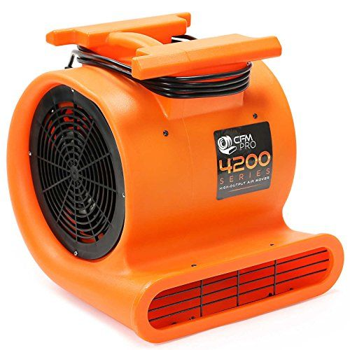 Cfm Pro Air Mover Carpet Dryer Blower Fan 4 200 Series This Industrial Fan From Cfm Pro Is Built For Professionals Blower Fans Flood Restoration Movers