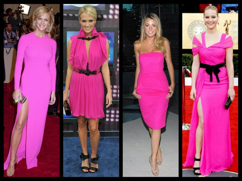 Who wore the HOT Pink Dress Best? Brooklyn Decker, Carrie Underwood ...