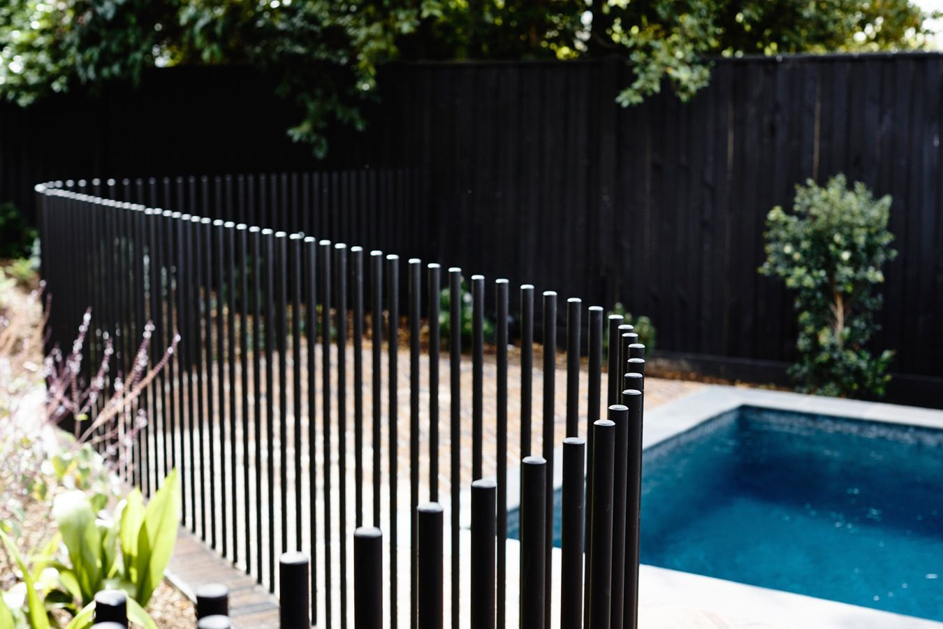 Kew Ii House Pool Fence Pool Landscaping Fence Design