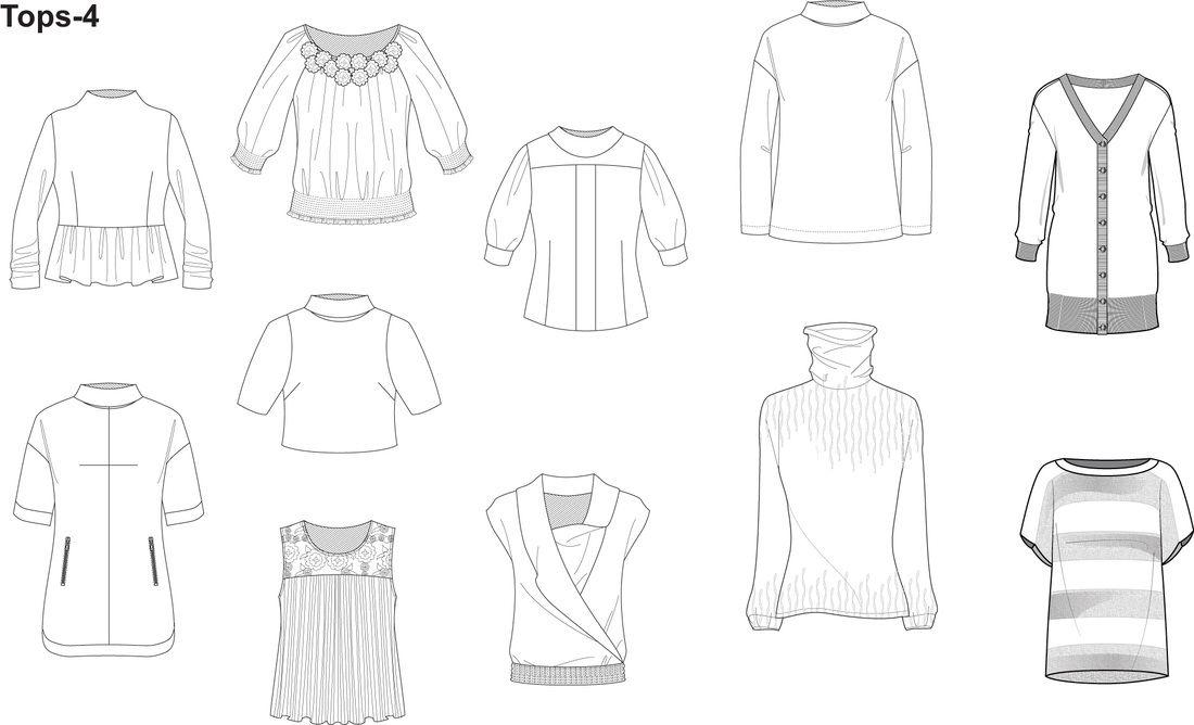 Illustrator Fashion Templates - Home | Technische Zeichnung Kleidung ...