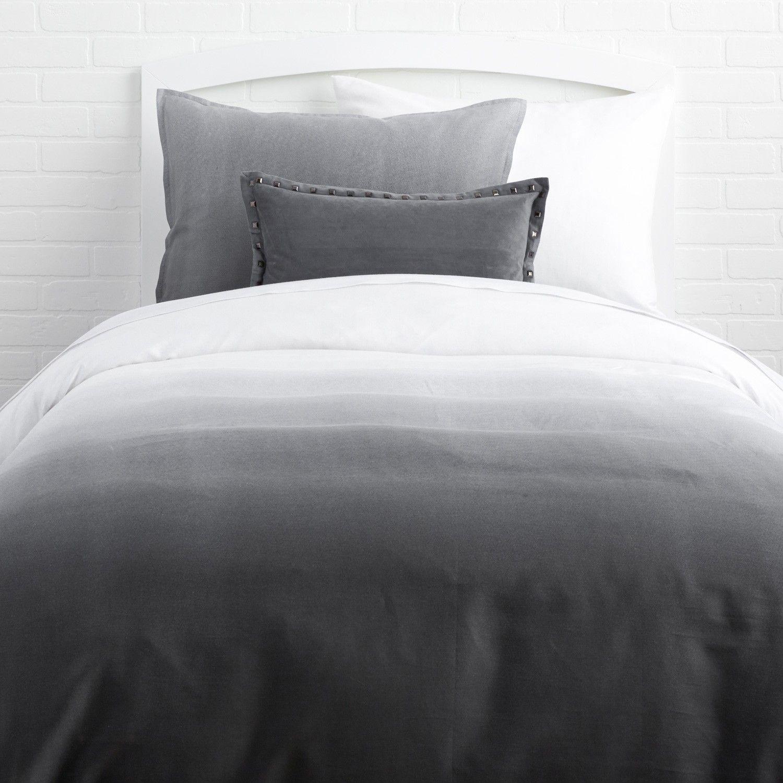 Grey Ombre Duvet Cover And Sham Set Twin Duvet Bedding