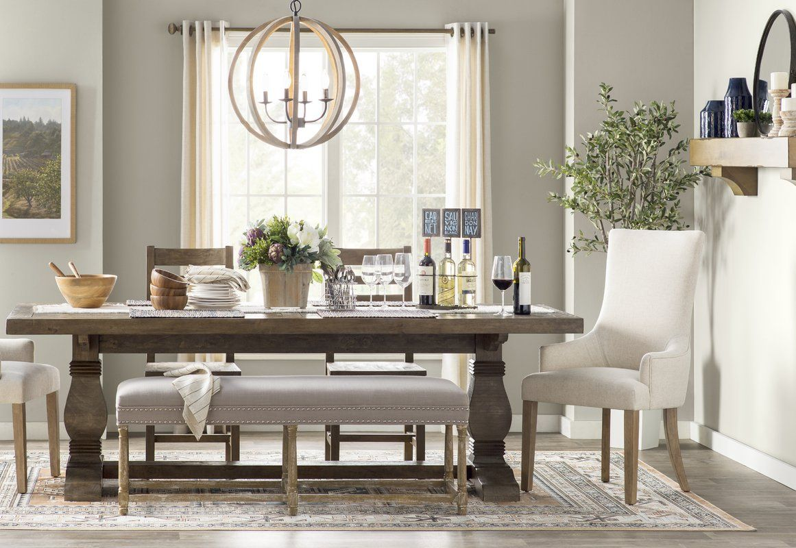 Gertrude Solid Wood Dining Table Reviews Joss Main Building Forever Home In 2019 Dining Table In Kitchen Solid Wood Dining Table Dining Table