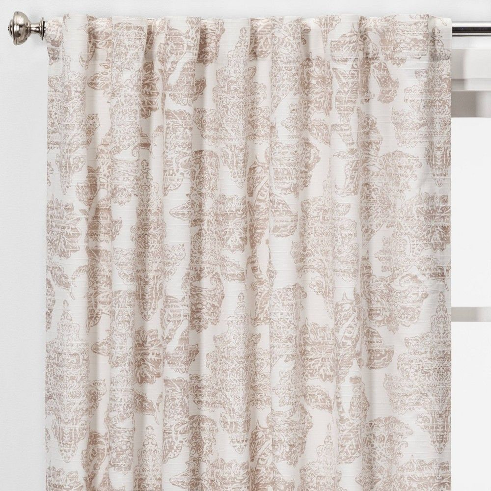 84 X54 Charade Floral Light Filtering Curtain Panel Pink