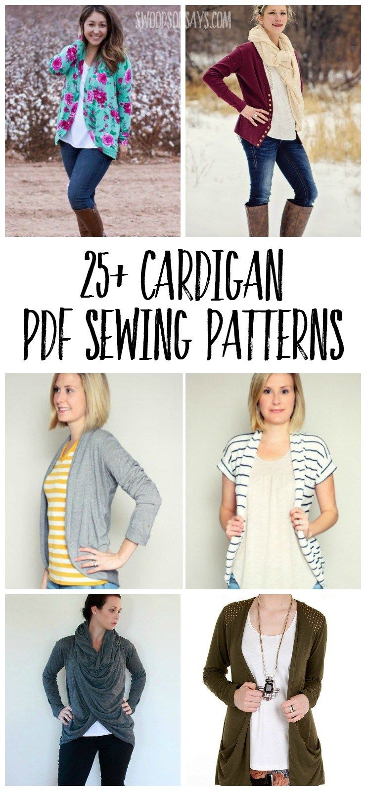 25+ cardigan patterns to sew - Pdf sewing patterns, Sewing patterns, Fall sewing, Cardigan pattern, Clothing patterns, Sewing clothes - I love cardigans! As a nursing mom (list of nursingfriendly PDF patterns in this post!), they're perfect for layering and I started digging around for all my options in the PDF sewing world  Since I