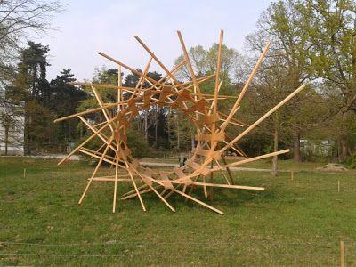 """""""Architextures"""",  Johann Le Guiller Jardin d'Agronomie Tropicale (Paris-Vincennes),  dans le cadre de sa résidence auprès de la Mairie de Paris.(2011)"""