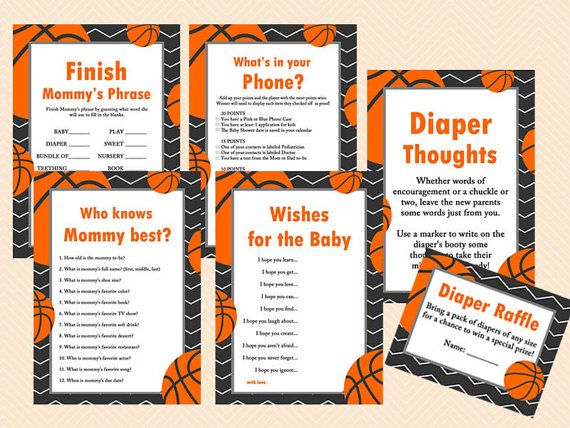 Basketball Baby Shower Games Printables Game By