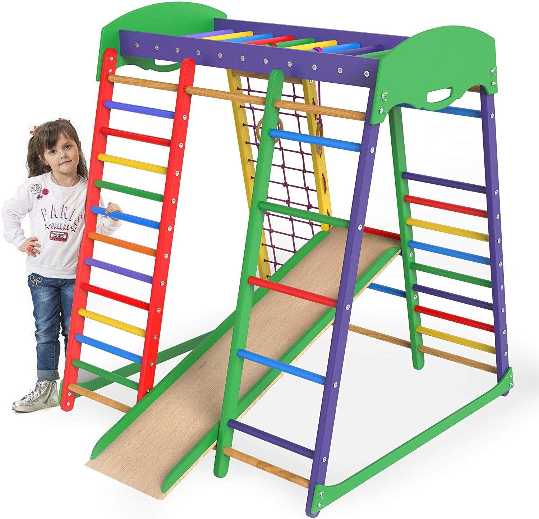 Amazon Com Jungle Gym Indoor Playground Slide For Kids Playset Kid Jungle Gym Toddler Climber Climbing Fram Indoor Jungle Gym Kids Jungle Gym Jungle Gym