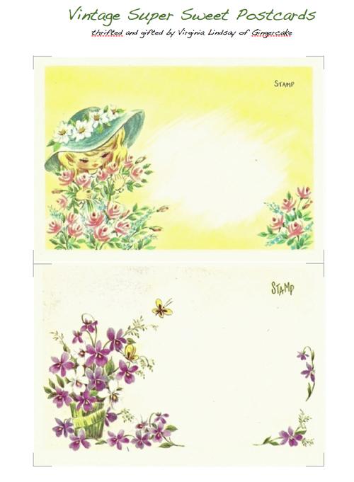 Super Sweet Vintage Postcards for You! | Paper Art | Vintage