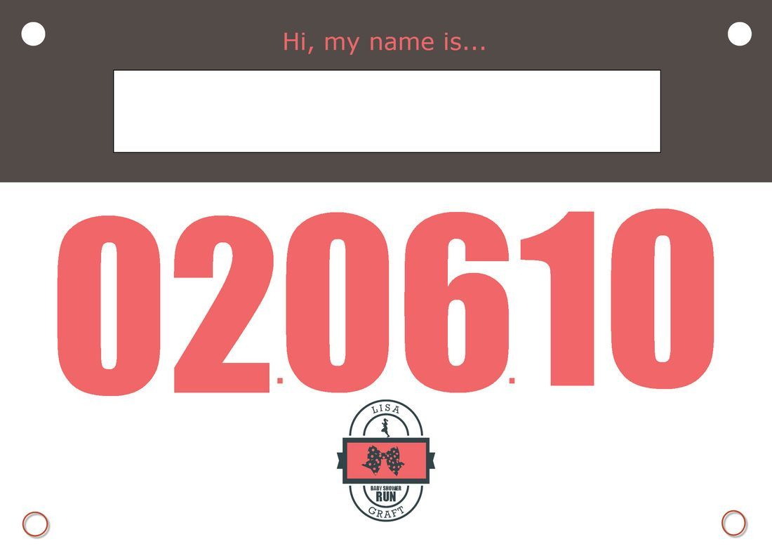 Running bib template | why letter.