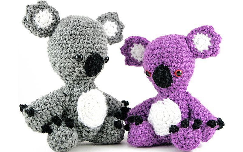 Free Amigurumi Koala Pattern : Karl and karla koala amigurumi crochet pattern by janine holmes at