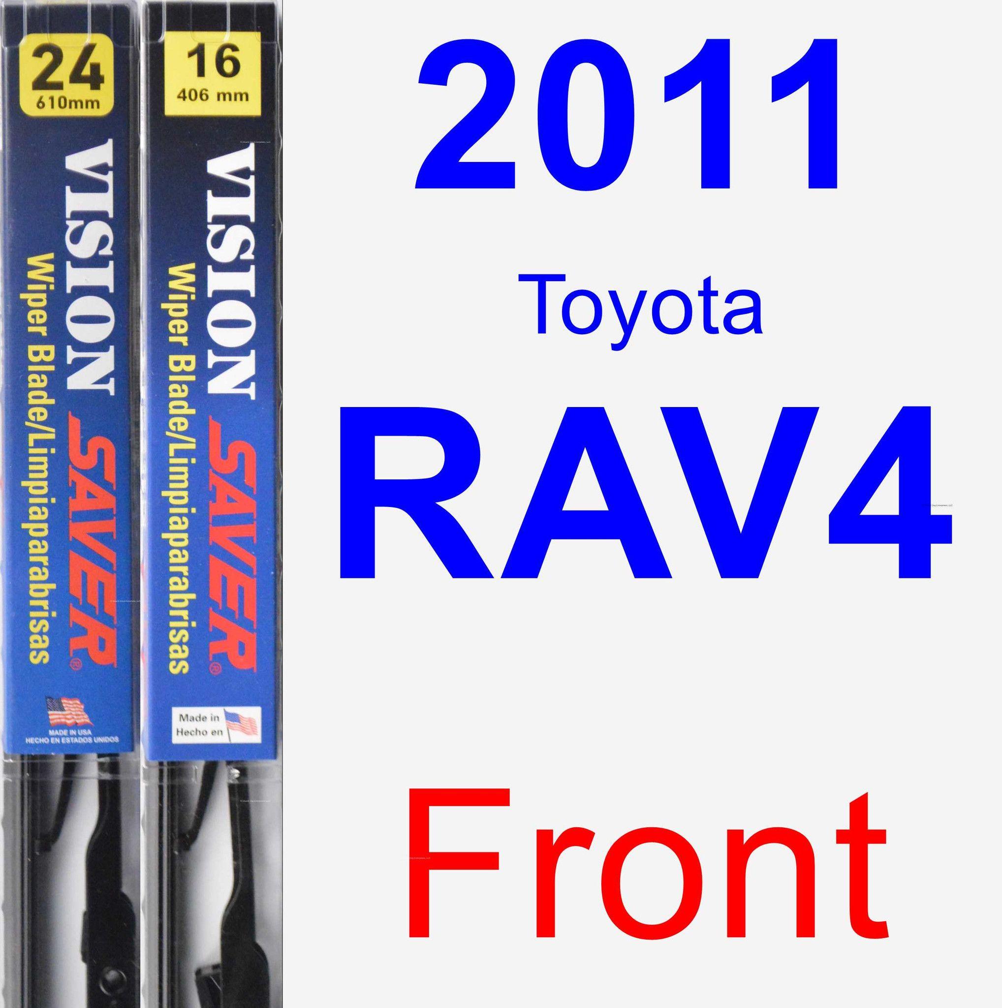 Front Wiper Blade Pack For 2011 Toyota RAV4